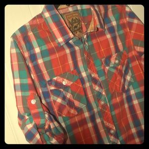 Red Camel Button Down Western Style Shirt